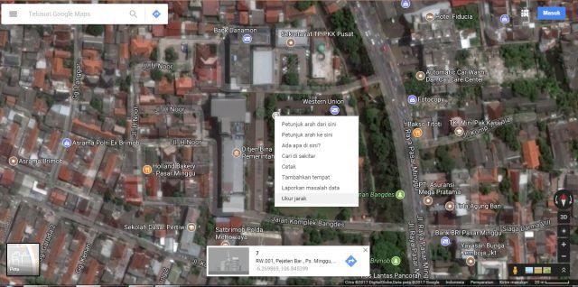 Langkah ke tiga menghitung luas tanah online di google maps