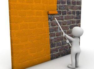 Ilustrasi Pewarnaan Cat Pada Dinding Bangunan