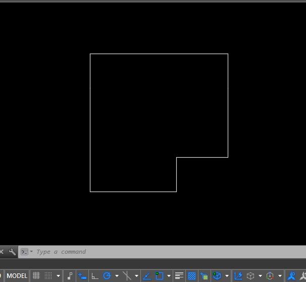 Contoh Garis Dinding As Untuk Membuat Dinding 3D di AutoCAD